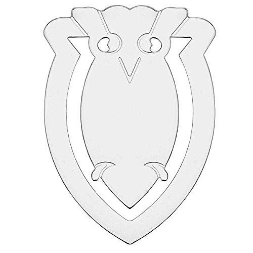 Lesezeichen Geldklammer Eule 3,5x5 cm Silber Plated versilbert in Top verarbeitung
