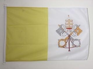 علم مدينة فاتيكان من AZ FLAG - 3 × 5 أقدام للاستخدام الخارجي - أعلام فاتيكان 90 × 150 سم - لافتة 3 × 5 أقدام محاكة من البو...