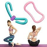 Cuisse Toner et Anneau de Pilates Yoga - 2Pcs,Poitrine Toner Musculation Appareils Jambes et Cuisses,Exercice de Jambe d'entraînement de Bras,Améliore Le contrôle de la vessie Exercice PVC.