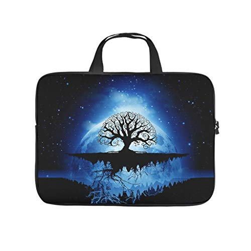 Viking Blue Tree of Life Laptop Bag Durable Water Resistant Big Capacity Zipper Multi-Functional Stationery 10-17 Zoll for Teen White 15 Zoll