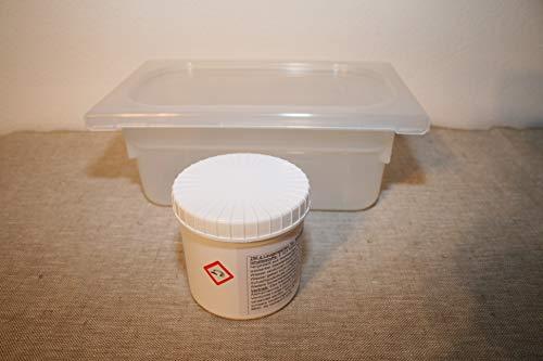 Holzbackofen-Welt 250g Perlen für 6,5 l Brezellauge GP 1kg/23,00 € im 1/4 GN Behälter mit Deckel