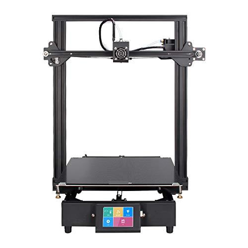 Kit d'imprimante 3D DIY, imprimante 3D Portable personnelle DIY, écran Tactile de 3,5 Pouces HD, Taille d'impression de 330 310 350 mm, Filament de 1,75 mm en TPU/PLA,Black