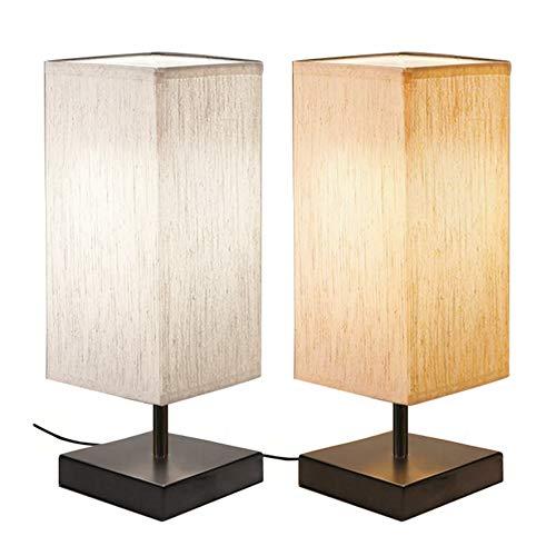 [2 Pack] Lámpara Mesilla Noche Táctil, Bomcosy Lampara de Noche Regulable, USB...