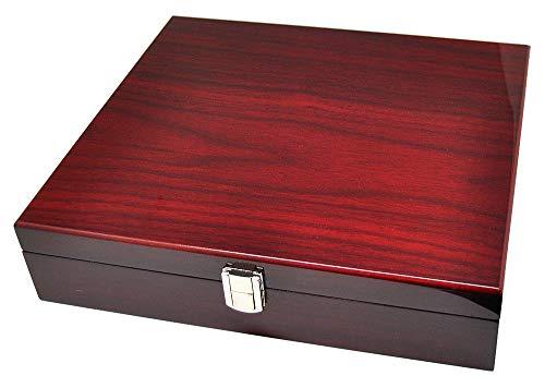 Uhrenhuette Uhrenbox Klavierlack für 10 Uhren Bordeaux Rot