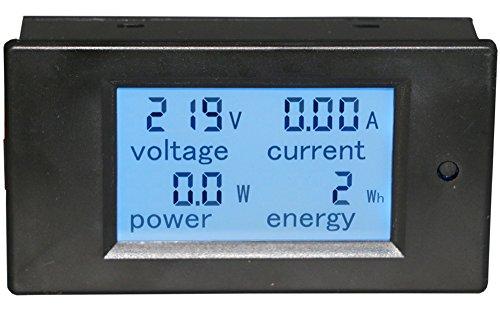 Yeeco Digital Multímetro AC 80-260V 100A Voltímetro Amperímetro Tensión Amperaje Poder Energía Metro Voltios Amperios Ensayador Voltaje de Corriente Monitor LCD Pantalla Digital Voltios Amperi