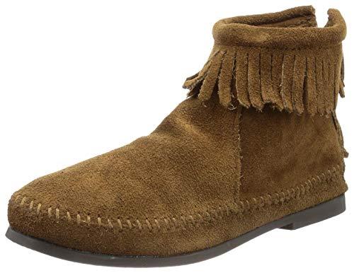 Minnetonka Back Zipper Boot 28 Damen Stiefel, Braun (Dusty Brown 3), 41 EU