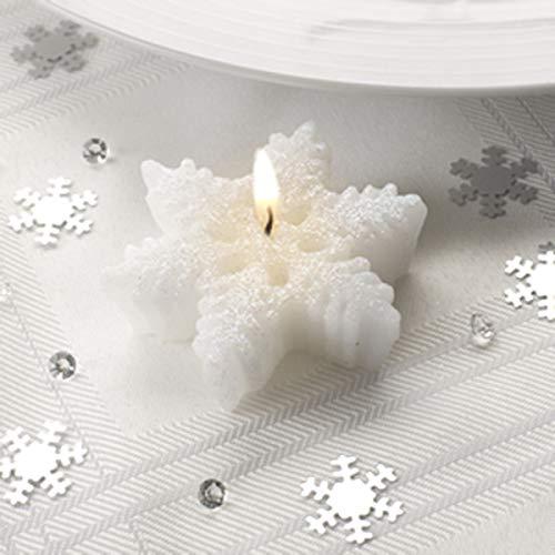 Wedding Accessories and Giftware Scintillant Flocon de Neige – Flocon de Neige Bougies – Lot de 3 x594429