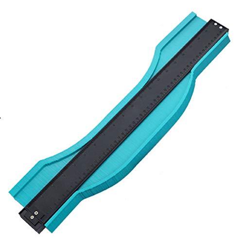 Profile Gauge, Contour Gauge Measure Ruler, Contour Duplicator voor houtbewerking, Circular Frames, Goten, Deur kozijnen, hout, porselein, 20inch,Green