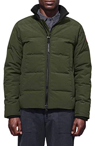 Canada Goose Men's Woolford Bomber Jacket (Military Green, L)