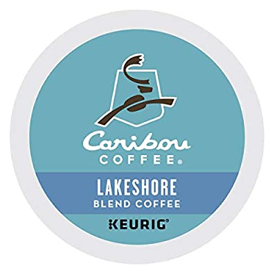 Caribou Coffee Lakeshore Blend, Single-Serve Keurig K-Cup Pods, Medium Roast Coffee, 24 Count - Pack of 4