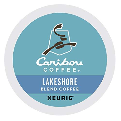 Caribou Coffee Lakeshore Blend, Single-Serve Keurig K-Cup Pods, Medium Roast Coffee, 96 Count