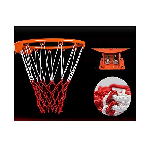 WWZL Tablero de Baloncesto para Adultos Aro de Cesta de Muelles Dobles con Malla para Aro de Baloncesto de Entrenamiento Colgante Interior y Exterior