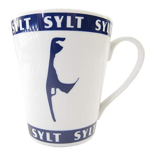osters muschel-sammler-shop Expresso Tasse ┼ Kaffeebecher ┼ Teebecher ┼ blau-Weiss ┼ Syltmotiv ┼ Motiv Sylt ┼ Sylter Becher ┼ Strandtasse-Becher, All Over (Becher 300ml)