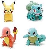 Figura de Anime de dibujos animados 4 piezas Pokemon 9-12 cm Pvc personaje de dibujos animados de anime Escultura de juguete Colección de decoración de oficina en casa