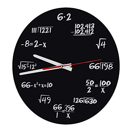 Orologio da Parete Matematico, Orologio Matematico, Orologio da Parete Unico Regalo Insegnante, Regali Unici per Bambini, Amici