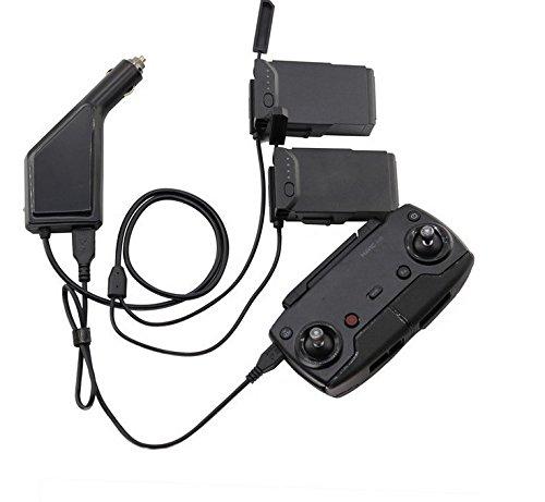 Flycoo Auto Ladegerät Autoladegerät Adapter für DJI Mavic Air Drohne kfz Batterien und Fernbedienung Ladestation HUB USB (Für 2 Batterien und Fernbedienung)