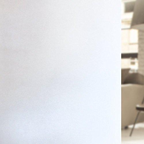 LMKJ Película de Ventana de privacidad Mate Blanca, película de Vinilo de vitral, Aislamiento térmico electrostático, Pegatina de Ventana esmerilada A90 50x100cm