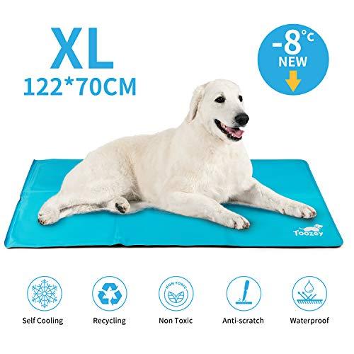 Toozey Alfombra Refrescante para Perro Autoenfriamiento - Alfombra de Gel Activada por Presión para Perros Extra Grande, a Prueba de Arañazos/Impermeable/Antideslizante, XL