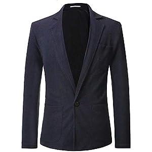KOGARASI ジャケット メンズ テーラードジャケット 春 夏 秋 スーツジャケット 長袖 無地 涼しい サマージャケット スリム 1つボタン ストレッチ 通気性 オシャレ