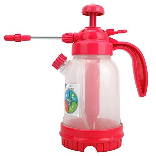 Handheld tuinspuit Waterpomp drukspuiten 1.8L draagbare tuin- en gazonspuit Verstelbare spuitmond voor het sproeien van onkruid/water geven/huis schoonmaken/auto wassen(rode roos)