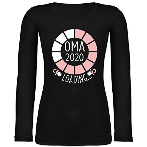 Shirtracer Oma - Oma 2020 Loading. - weiß/rosa - S - Schwarz BCTW071 - Langarmshirt Damen