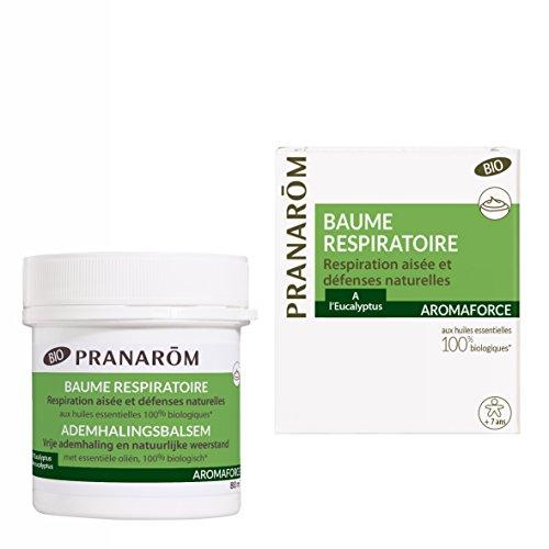 Pranarôm - Aromaforce - Baume Respiratoire Bio Eco - Effet Chauffant - A L'Eucalyptus - 80 ml