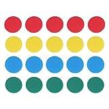 Toyvian 100 unidades de cubos de juegos redondos para cubos de bingo con contador de monedas de plástico