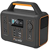 ALLWEI Portable Power Station, 300W/Peak 600W Solar Generator 280Wh/78000mAh CPAP...