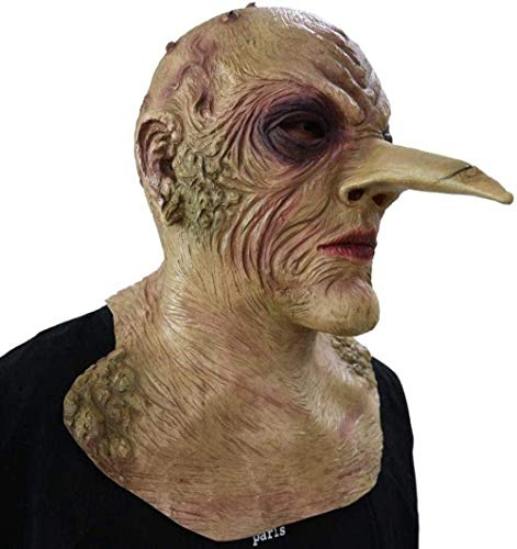 WYZDJ Co.,ltd Halloween Maske Halloween Horror Lange Nase Zombie Maske Beängstigend Requisiten Latex Party Maske Ausgefallene Ballkleid Kostüm Cosplay