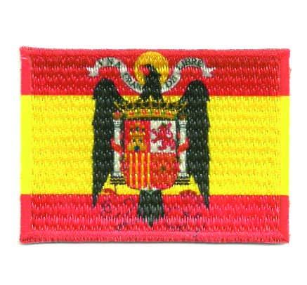 losparches Parche bordado y textil termoadhesivo BANDERA ESPAÑA AGUILA DE SAN JUAN 4cm x 3cm