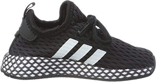 adidas Unisex-Kinder Deerupt Runner Fitnessschuhe, Schwarz (Negro 000), 24 EU