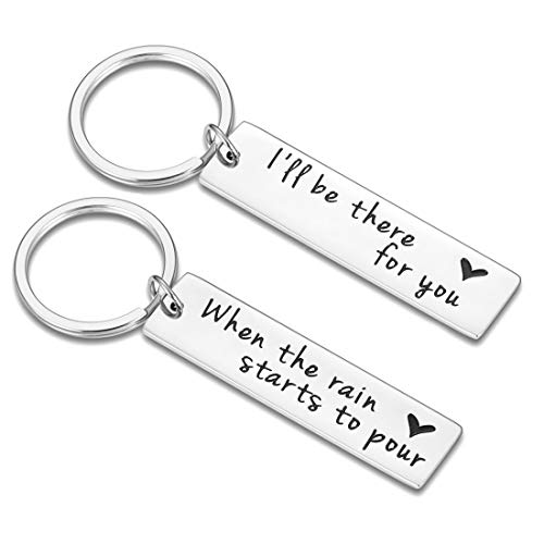 Best Friends Valentine Birthday Gifts 2 Pcs Double-Sided Keychains for Women Men Friends TV Show Merchandise Gifts for Friends Fans Couples Gifts Keyrings for BFF Friendship Graduation Jewelry Gifts