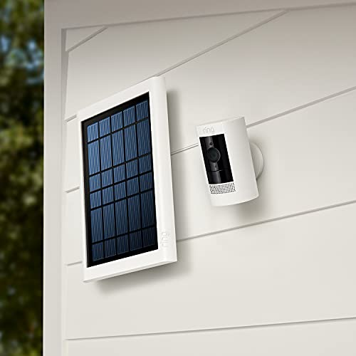 Ring Super Solar Panel – Compatible with Ring Spotlight Cam Battery and Stick Up Cam Battery – White
