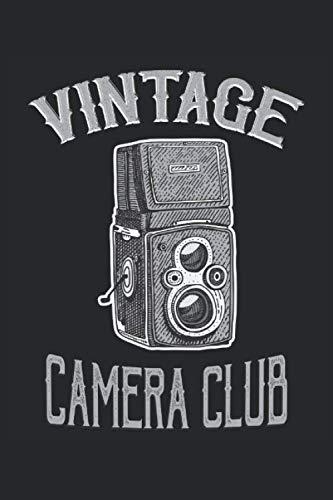 Vintage Camera Club: Antigua cámara analógica retro fotógrafos de la vieja escuela regalos forrados cuaderno (formato A5, 15,24 x 22,86 cm, 120 páginas)