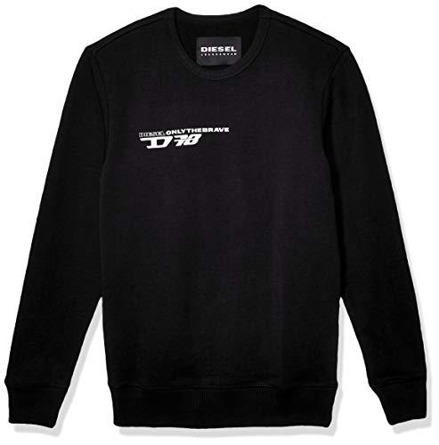 Diesel Herren Willy Sweat-Shirt Pyjama-Oberteil (Top), schwarz, Groß
