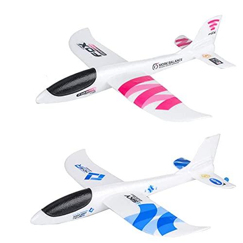 HeiHeiDa Segelflugzeug, Kinder Styroporflieger, Flugzeuge Styropor, Manuelles Werfen Flugzeug, Werfen Fliegen Modell, Outdoor-Sports Flugzeug Spielzeug