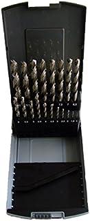 Borrkassett HSS DIN 338 slipad, 19-delad Ø 1,0–10,0 mm med 0,5 mm stegvis – metallborrsortiment i RoseBox