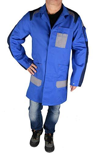 Iwea Profi Herren Arbeitsmantel Berufsmantel Kittel Workwear Blau, XS