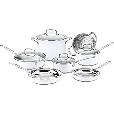 Cuisinart CSMW-11G Chef's Classic Stainless Color Series 11-Piece Set (White), White