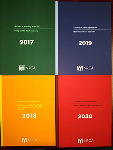 NRCA Roofing Manual - 2020 Boxed Set Hardcover – January...