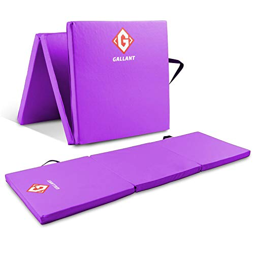 Gymnastics Mat Large Tri Folding | Non Slip, PU Leather and 5cm Thick...