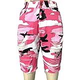Pantaloni a Vita Alta da Donna Camo Casual Fashion Streetwear Pantaloni Elasticizzati Elasticizzati Plus Size Pantaloncini di Jeans Resistenti Scava Fuori X-Large
