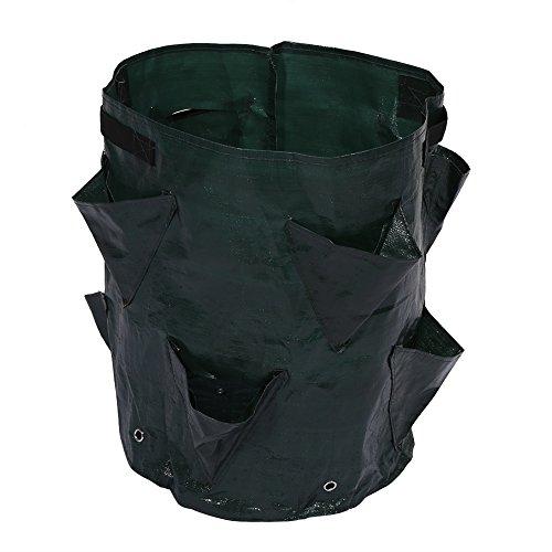 Yosoo La plantación de hierbas vegetales de la flor del jardín al aire libre crece el bolso del envase con 8 bolsillos laterales