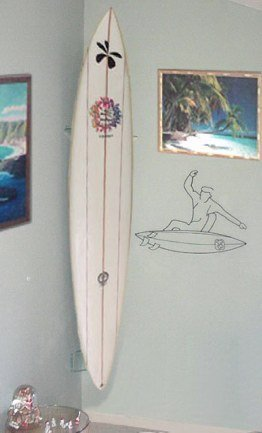Clear Surfboard Display - Vertical Corner Racks