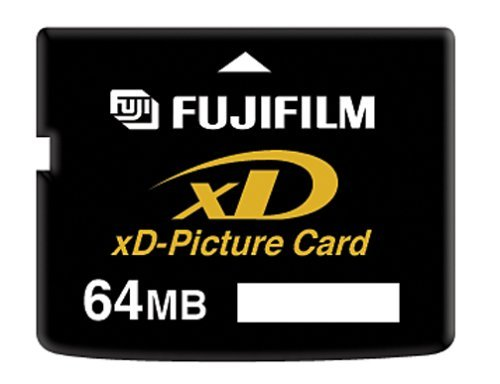 Fujifilm 64MB xD-Picture Card 1 High-capacity flash memory format for digital cameras 64 MB storage capacity 3 MB/sec record speed, 5MB/sec read speed