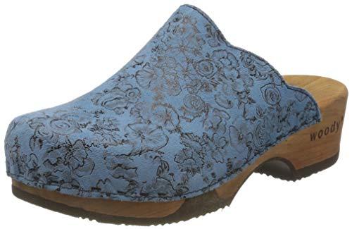 Woody Damen Emma Clogs, Blau (Capri 084), 38 EU