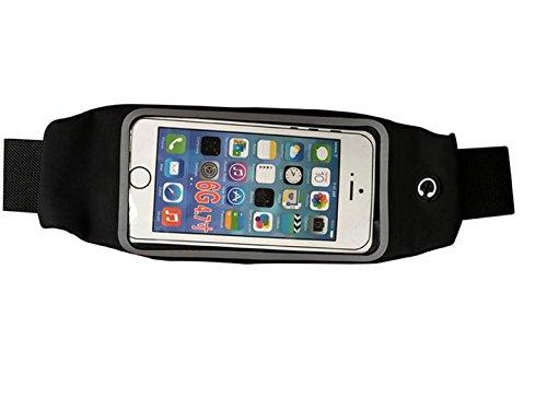 Fanny Pack Sac banane de course avec écran tactile clair et trou pour iPhone6/7/7plus/6plus Note de Samsung 2/3 Unisexe 5,5\