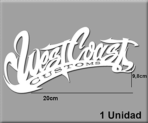 Ecoshirt 4U-XP5H-7D68 Stickers West Coast R43 Aufkleber Decals Autocollants adhésifs, Blanc