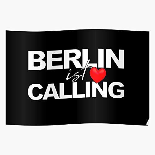 Myxtur Berlin Ist Calling Geschenk für Wohnkultur Wandkunst drucken Poster 11.7 x 16.5 inch