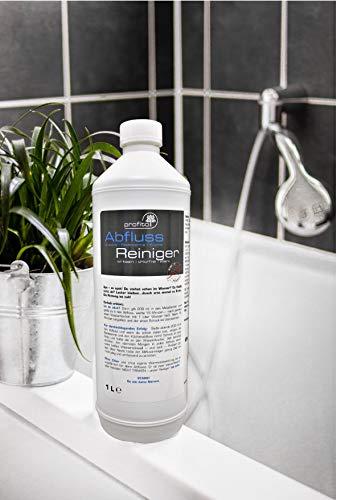 profitol® Abflussreiniger 1000 ml inkl. MESSBECHER, chlorfrei, wirkt sofort I Hochkonzentriert gegen hartnäckigste Verschmutzungen und Gerüche, Abfluss-Frei mit nur 200 ml pro Anwendung, Rohrreiniger - 3